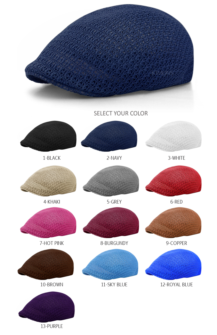 73ffb0bb81d Cool Mesh Newsboy Gatsby Cap Mens Ivy Hat Golf Driving Summer Sun ...