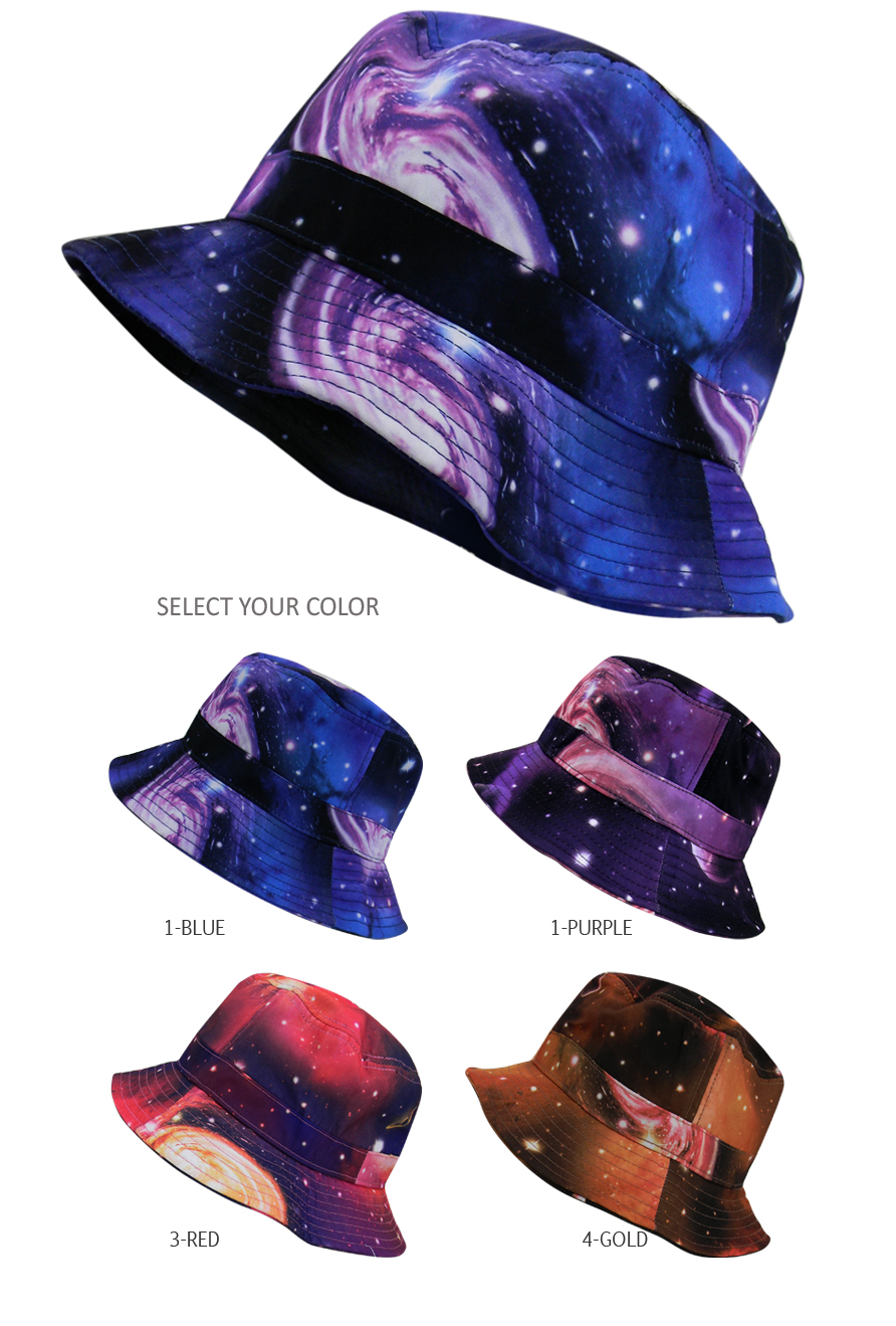 Galaxy Bucket Hat Boonie Hunting Fishing Outdoor Cap Mens Womens Sun ... 891d4144ee