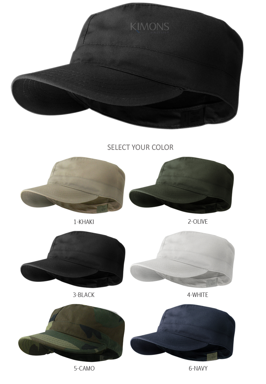 Military inspired Patrol Caps. Fitted Military fatigue caps with 4 sizes.  This simple stylish Cadet cap will give you complete Military look on your  outfit. 76faa229d8d