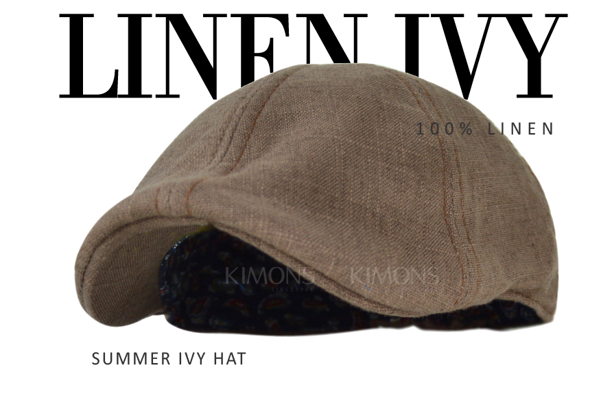 Duckbill Linen Newsboy Cotton Gatsby Cap Mens Ivy Hat Golf