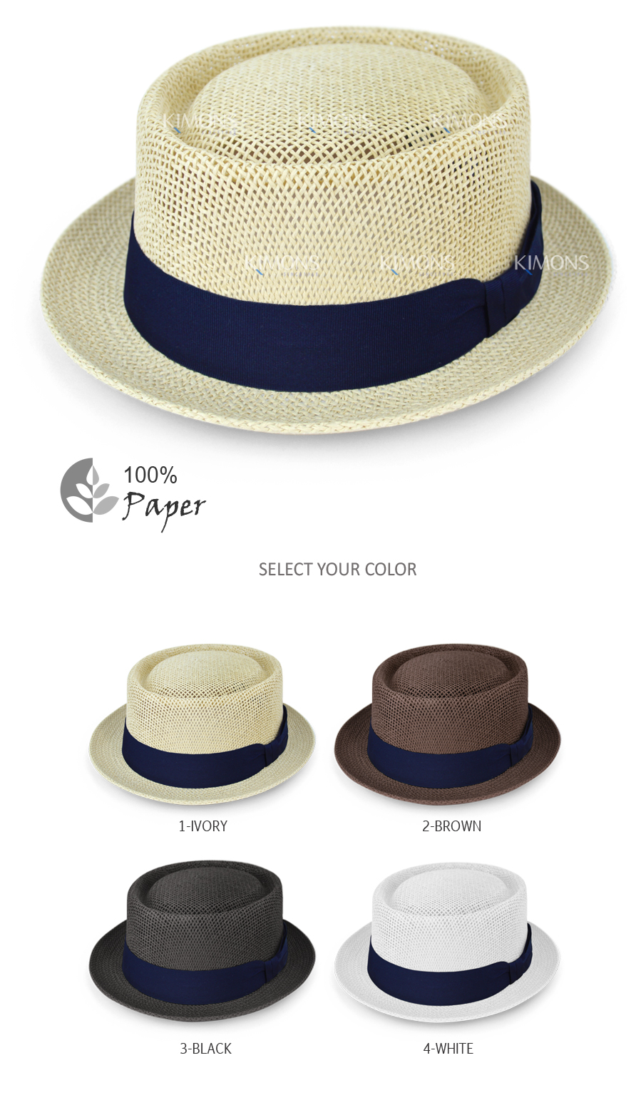 Our fashionable paper straw Porkpie hat provides you with the most stylish  look in the hot weather. Not only will it be the perfect accessory to  provide ... 4041ec7a5fa