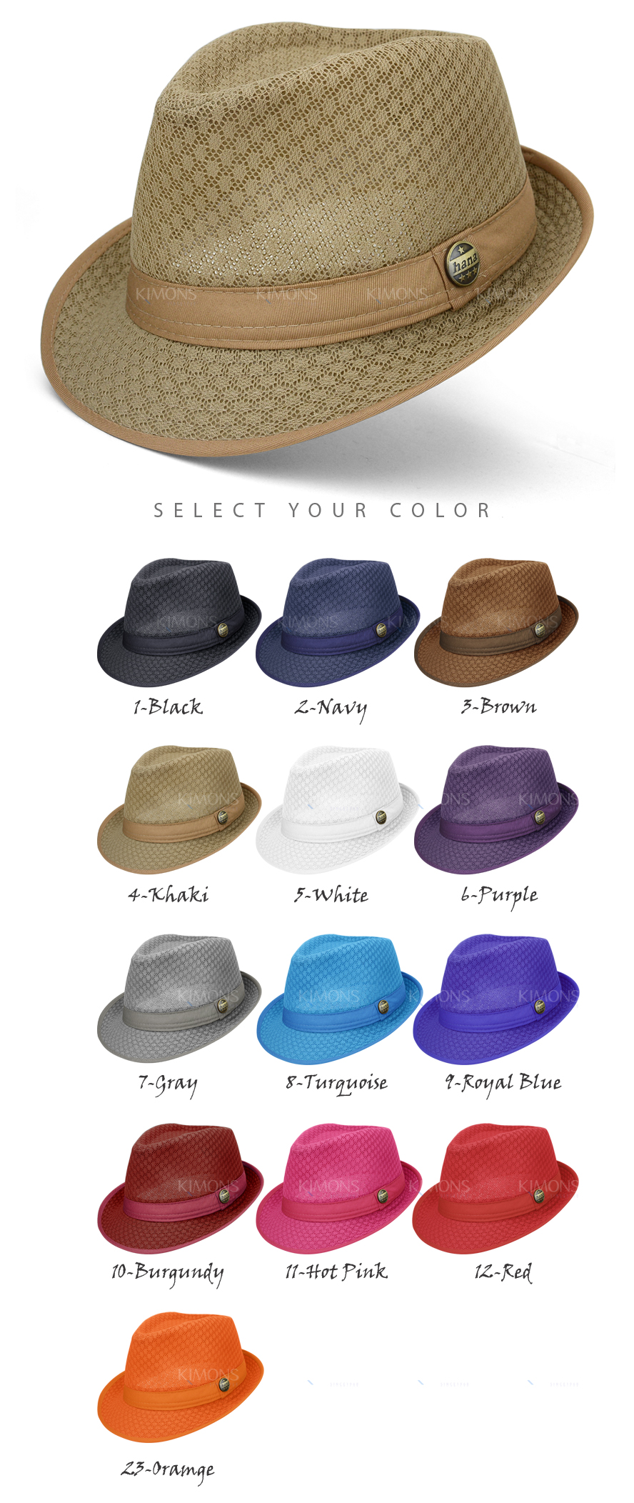 904ca56c3f954 Light Weight Mesh Fedora hat Soft Cool Summer Classic Trilby Cuban ...