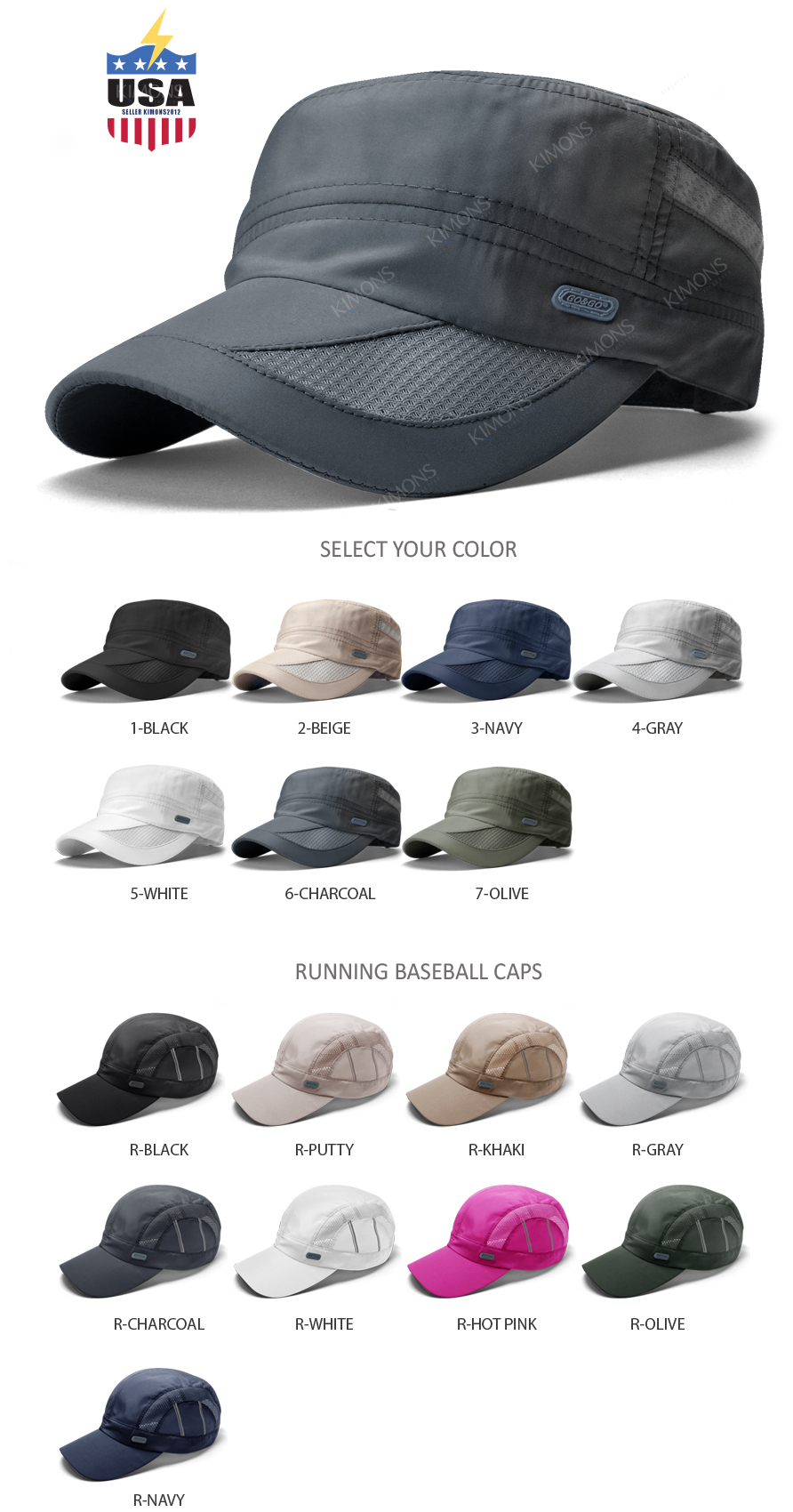 54f0d936 Details about Men's Classic Army Summer Military Cap Hat Cadet Patrol Style  Brim Spring Summer