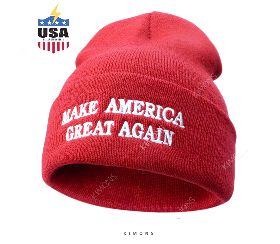 5dd581237 Details about Donald Trump Hat MAGA Winter Knit Red Beanie Make America  Great Again Cap USA