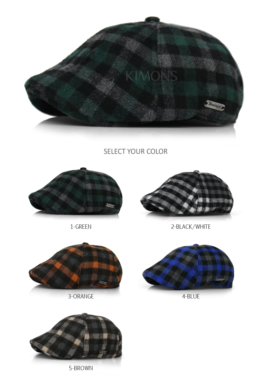 Add some color and distinction to your Ivy collection with these very  lively plaid wool blend Ivy caps. The crown is made of 6 panels 39d5c571b927