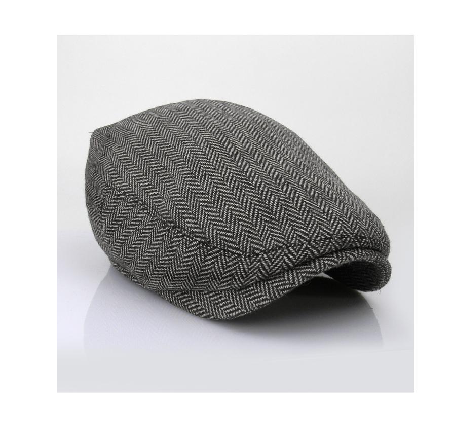 05cc38f0523 EM Herringbone Ivy Hat Wool Stripe Gatsby Cap Golf Driving Flat ...